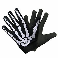 Xelement Mechanical Textile Fabric Skeleton Hand Motorcycle Gloves X Large