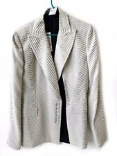 GIANFRANCO FERRE  WOMEN'S BEIGE JACKET SIZE 46 WITH TAGS MADE IN ITALY 115