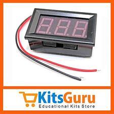 0-100V (99.9V) DC Digital Voltmeter Panel .56 inch Red LED Bike Car KG231