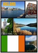 IRELAND (EIRE) - SOUVENIR NOVELTY FRIDGE MAGNET - SIGHTS - GIFT - XMAS - NEW