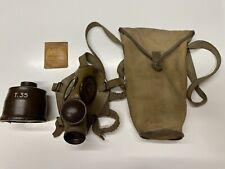Maschera Antigas T35+Sacca+Dischi Anti-appannanti. Italian Gas Mask T35+objects