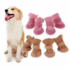Dog Shoes For Winter Thick Fur Warming Boots Snow Rain Waterproof Puppy Pet Warm