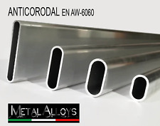 Profilo OVALE Alluminio da 10 12 18 20 22 25 30 40 45 50 60 mm DIVERSE LUNGHEZZE
