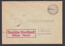 CZECHOSLOVAKIA 1941 WWII OFFICIAL FELDPOST COVER ULMUTZ TO VIENNA AUSTRIA