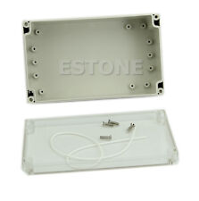Waterproof Electronic Project Box Clear Cover Plastic Enclosure CASE200x120x75mm
