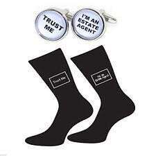 Trust me Estate Agent Cufflinks & Trust me Estate Agent Socks Set BOCB004-X6S051