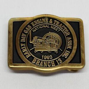 Early Day Gas Engine & Tractor Assn 1993 National Meet Brass Belt Buckle Ltd Ed