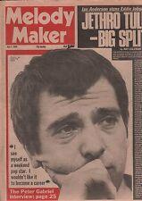 Melody Maker July 5 1980 Peter Gabriel, Jethro Tull, Ian Anderson VG 122115DBE