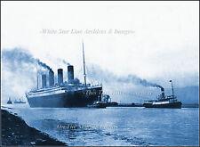 Photo: RMS Titanic In River Lagan Heading For Sea Trials Belfast, April 2, 1912
