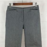 J.Crew womens size 4 stretch gray cotton nylon mid rise straight dress pants