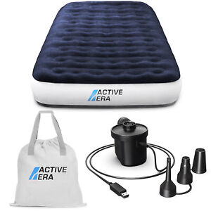 Active Era® Premium Single Camping Air Bed with USB Rechargeable Pump and Bag