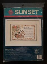 Dimensions Sunset # 13564 Contentment Counted Cross Stitch Kit Unopened U.S.A.