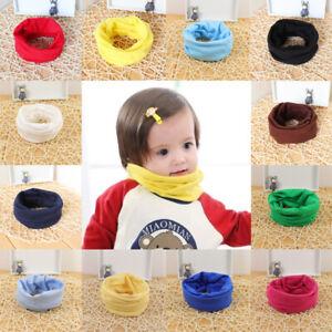 Kids Baby Girls Boys Children Warm Cotton Snood Scarf Scarves Winter Neckerchief