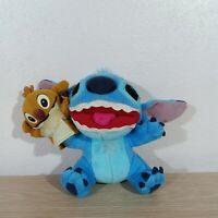"Disney Stitch w/ Reuben Experiment 625 hand puppet Plush Toy 5.5"" UFO Sega 2006"
