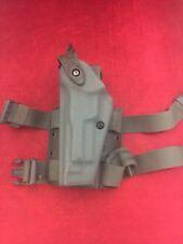SAFARILAND Drop Leg Holster Green Left Hand Double Strap Glock 6005-173 Ber 92