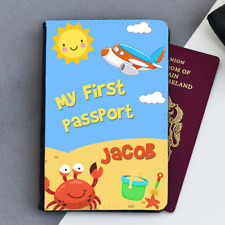 Personalised My First Passport Baby First Kids Children's Passport Holder Cover
