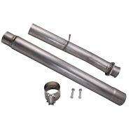 for Ford Powerstroke 6.4L Turbo Diesel 08-10 4'' Muffler Delete Tube Pipe