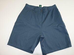 L.L. Bean Women's Bayside Walking Bermuda Shorts Size 18 NWT High Rise Blue