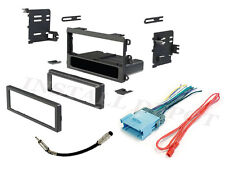 CAR STEREO RADIO DASH INSTALLATION MOUNTING TRIM KIT BEZEL WITH WIRING HARNESS +