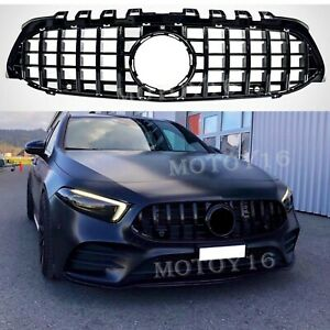 Front GT R Paname Grille Grill for New A Clas W177 A200 A250 A35 AMG Black 2019+