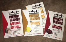 Lot of 4 Ultimate Guide to Weight Training Books, for Football, Tennis, Baseball