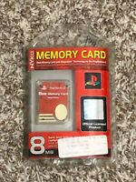 Nyko Official Sony PlayStation 2 PS2 8MB MagicGate Memory Card Red Rare