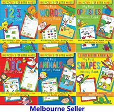 6x Kids Activity Books Learning Words Colouring Draw Writing Educational 32Pages
