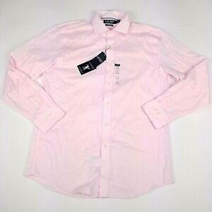 LRL Ralph Lauren Dress Shirt Mens UltraFlex Slim Fit Pink Stretch 16.5 34/35 L