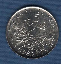 5 Francs Semeuse 1989 SPL de rouleau 83011 exemplaires