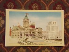 Vintage Postcard City Hall And Municipal Office Building, Baltimore, Md.