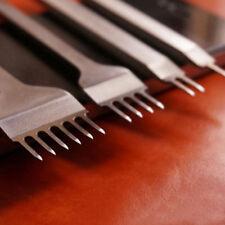 4 X Prong Leder Flach Meißel Locher Stanzen Lochzange Stitching Punch Werkzeug