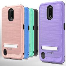 For Nokia C2 Tava / C2 Tennen Magnetic Metal Kickstand Heavy Duty Phone Case