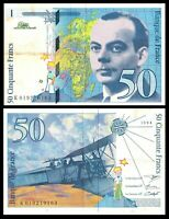 FRANCE 10 FRANCS 1994 P 157 pre Euro * Exupery , Airplane ***
