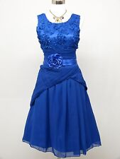 Cherlone Blue Prom Ball Evening Wedding Bridesmaid Knee Length Dress Size 14-16