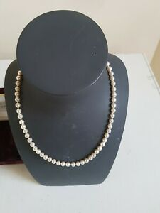Jersey Pearl Vintage Prestige Faux Necklace with 9ct Gold Clasp Boxed