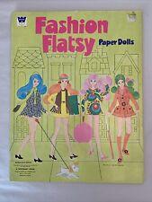 1971 Fashion Flatsy Mod Paper Dolls Rare Uncut Original Vintage