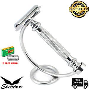Stainless Steel Classic Metal Safety Razor Double Edge Shaving Razor For men_AU