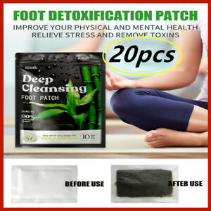 20X nuubu Detox Foot Patches Pads Body Toxins Feet Slimming Cleansing Herbal