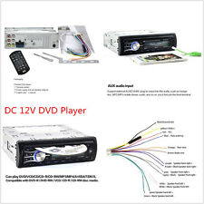 Bluetooth In-Dash Single Din Car Vehicle Cd Dvd Mp3 Player Radio Stereo Aux Kit
