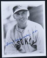 Tony Malinosky Brooklyn Dodgers Baseball Autographed Signed 8x10 B&W Photo