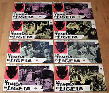 TOMBA DI LIGEIA set completo fotobuste poster Vincent Price The Tomb of N1