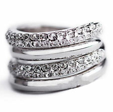 Unbranded Stackable White Gold Plated Fashion Rings