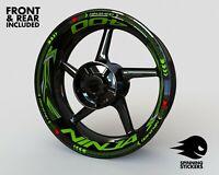 Wheel Stickers for Kawasaki Ninja 400 Rim Tape Motorcycle Decals Graphics