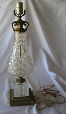Antique Crystal Glass Lamp - base only no shade