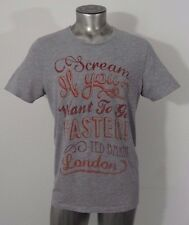 Ted Baker Scream If you want to go faster men's t-shirt gray size M