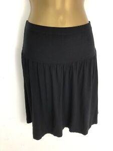 The White Company Skirt Black Jersey Stretch Short Floaty Size S UK 8/10