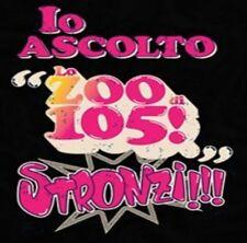ADESIVO (IO ASCOLTO LO ZOO DI 105 STRONZI) FONDO BLACK
