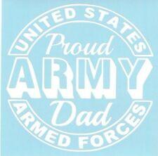 Proud Army Dad Car Truck Suv Military vinyl sticker decal