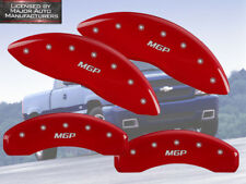 2003 2004 2005 Chevy Astro Front + Rear Red MGP Brake Disc Caliper Covers