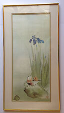 "Japan 1761 Artist Sakai Hoitsu"" Iris and Mandarin Ducks"" Museum Fine Arts Print"